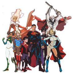 My favorite superhero family. The Superman family Superhero Family, Superman Family, Superhero Design, Arte Dc Comics, Dc Comics Superheroes, Heroes United, Dc Heroes, Power Girl, Marvel E Dc