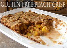 Gluten Free Peach Crisp