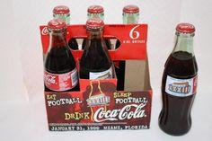 Coca Cola 1999 XXXIII Super Bowl 6 pack unopened $15 Coca Cola, Pepsi, Coke, Bottles For Sale, Nascar, Super Bowl, Nfl, Canning, Drinks