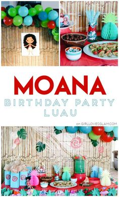 Moana birthday party decoration ideas to create your perfect luau birthday party for your Moana loving child! Easy decor and recipe ideas to make!