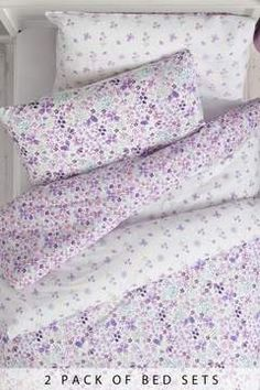 Next 2 Pack Vintage Ditsy Bed Set - Purple Contains two designs.