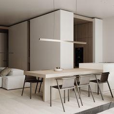 Kitchen Study Interior Design, Interior Design Kitchen, Dinner Room, Loft, Decoration, Home Kitchens, Interior Architecture, Kitchen Dining, Modern Design
