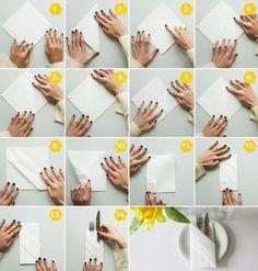 die 16 besten bilder von bestecktasche aus serviette. Black Bedroom Furniture Sets. Home Design Ideas