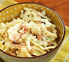 Quick and easy cole slaw, from The Perfect Pantry.
