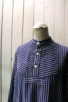 German fisherman shirts/1980's of Germany/navy by SASAKIYOHINTEN