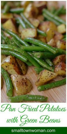 So yummy. This is one of those traditional recipes that is forever ingrained in … So yummy. This is one of those traditional recipes that is forever ingrained in my heart and my taste buds. Pan Fried Potatoes and Green Bean goes with almost anything. Bean Recipes, Side Dish Recipes, Vegetable Recipes, Vegetarian Recipes, Cooking Recipes, Healthy Recipes, Potato Recipes, Pan Fried Potatoes, Snacks Für Party