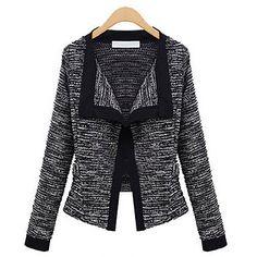 mode de Oujia manches longues manteau court (noir) - EUR € 21.44