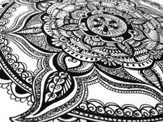 Mandala (detail, in progress) by Margo Yacheshyn
