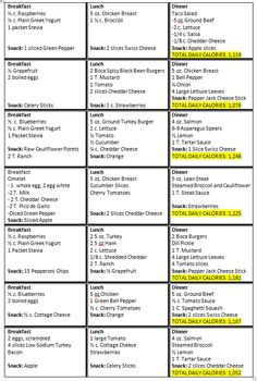 HCG Diet Menu Sample Printable | My Triumph: Phase 3 Sample Menu