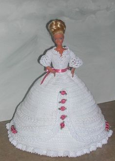 CROCHET FASHION DOLL PATTERN-#491 ROSEBUD PRINCESS #3 #ICSORIGINALDESIGNS