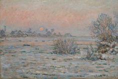 Claude MONET (1840-1926), Soleil d'hiver à Lavacourt, 1879-1880, huile sur toile, 55 x 81 cm. © MuMa Le Havre / David Fogel