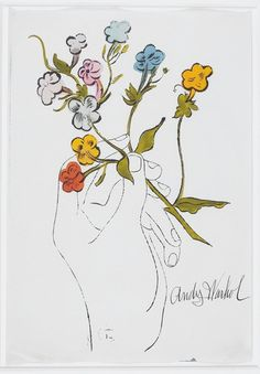 """Andy Warhol's """"Hand with Flowers"""" was among 21 paintings from the private collection of Jane Meyerhoff that were donated to the Walters Art Museum. (Andy Warhol)"""