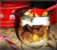 Zimt-Apfel Tiramisu mit Lebkuchen