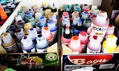 From the Balzer Designs Blog: Making Paint Swatches