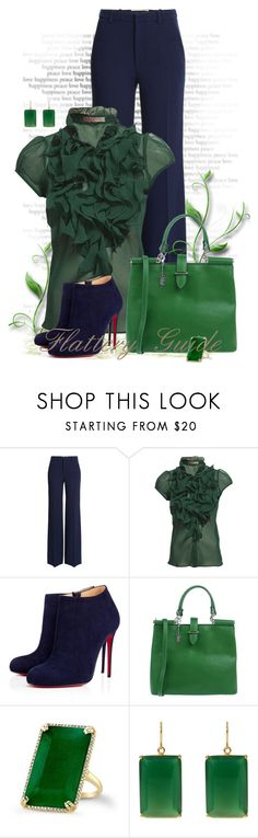 """""""Tegan"""" by flattery-guide ❤ liked on Polyvore featuring Roland Mouret, Saint Tropez, Christian Louboutin, Classe Regina and Margaret Elizabeth"""