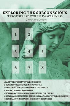 Explore your subconscious to heighten your self-awareness, fix pattern problems, and be the best version of you! For more free tarot spreads visit www.emeraldlotus.ca