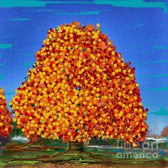 Autumn Dreams Digital Painting by Jenny Revitz Soper