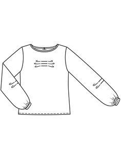 Блузка прямого кроя - выкройка № 112 из журнала 11/2017 Burda – выкройки блузок на Burdastyle.ru