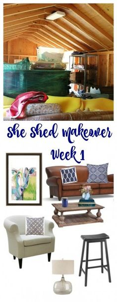 One Room Challenge She Shed  Makeover– Week 1