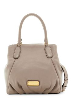 Image of Marc by Marc Jacobs New Q Fran Leather Satchel