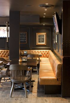 {Old Saloon Gentleman's Club} The Bimini Neighbourhood Pub, Vancouver, designed by Evoke International Design.