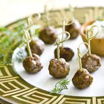 Lamb Meatballs with Tzatziki Sauce - I'm thinking of serving with some couscous or feta orzo and cucumber salad