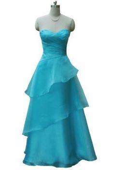 Qpid Showgirl Blue organzine A line evening dress prom gown 9011TQ  Amazon. co.uk  Clothing 0956bdf41