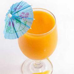 Mango Daiquiri: ice, sorbet, coconut rum, rum, lime juice