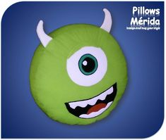 Monsters+Inc+Mike+Wazowski | mike wazowski monsters inc pixar almohada maa