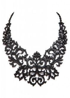 Beautiful Black Lace Look Tattoo Look Prom Fashion Collar Bib Choker Necklace  Price : $24.90 http://www.pretty-attitude.com/Beautiful-Tattoo-Fashion-Collar-Necklace/dp/B00CG53GZI