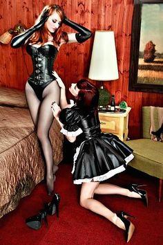 Crosdresing french maids having sex