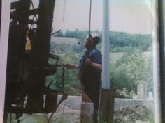 Pa Call drilling a water well.
