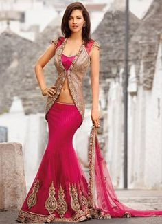 Designers Lehnga Style Saree