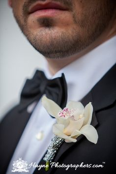 White orchid boutonnierre by Graceful Designs florist. Norfolk Wedding Photographer | Jessica and David Got Married! » Hayne Photographers Virginia Beach Photography Hayne Photographers Award Winning International Destination Photographer