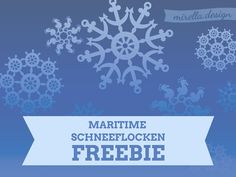 Maritime Schneeflocken Freebie