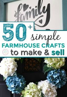 Simple Crafts That Make Money - Easy DIY Farmhouse Crafts to Sell for Profit, Money Making Crafts, Easy Crafts To Sell, Diy Projects To Sell, Sell Diy, Sewing Projects, Quick Crafts, Simple Crafts, Kids Crafts, Diy Home Crafts