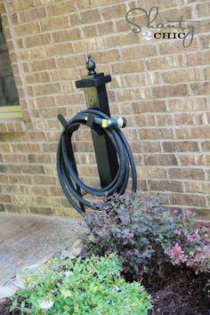 Handy DIY Garden Hose Holder for Under $15! www.shanty-2-chic.com