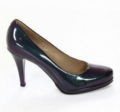 Czółenka damskie Gino Rossi na stabilnej #szpilce. Wielokolorowe #buty świetnie prezentują się podczas przyjęć.