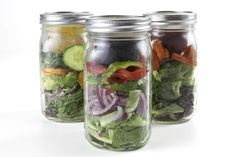 So kommen Salat und Sauce mit ... - BNTO Canning Jar Lunchbox Adaptor - Wide Mouth - 6oz - Clear