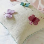 Embroidered and felt butterflies