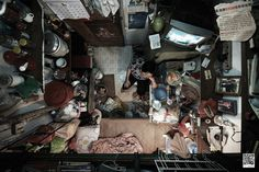 """Architizer Blog » Claustrophobic Hong Kong """"Cubicle Apartments"""" Seen From Above"""