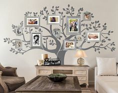 Wall Decal   Family Tree Wall Decal   Tree Decal   Large: Approx X