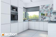 projekt Dom w malinówkach Wizualizacja kuchni 1 widok 1