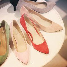 【IENA SLOBE】@ienaslobe  #suede #pumps #パンプス #photo #photooftheday #fashion #shoes #footwear #newshoes #baycrews #