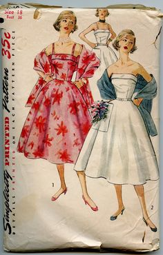 1950s Simplicity 4302 Vintage Sewing Pattern by GreyDogVintage