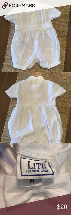 Like New Christening Gown Lito Children's Christening Gown .  Size Medium (3-6 months) One Pieces