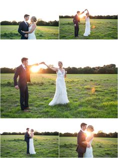 bride and groom dancing in the golden light of summer evening. Copdock Hall barn suffolk, Rebecca Prigmore Photography