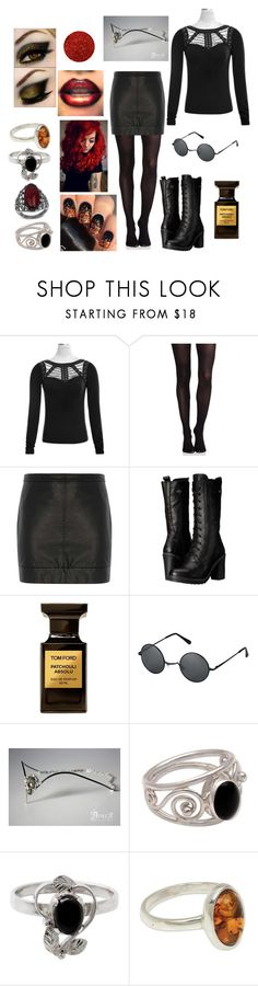 """""""like fire"""" by banasheeanni ❤ liked on Polyvore featuring SPANX, Dorothy Perkins, Harley-Davidson, Tom Ford, NOVICA and Alexander McQueen"""