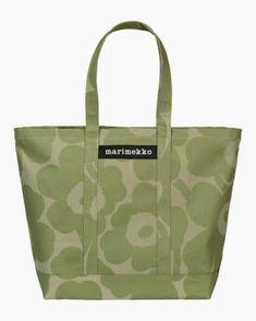 Laukut –Tervetuloa ostoksille - Marimekko Poppy Pattern, Tote Pattern, Marimekko Bag, Beautiful Handbags, Green Bag, Sale Items, Cosmetic Bag, Cotton Canvas, Shopping Bag