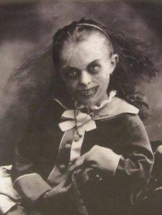 .evil little girl